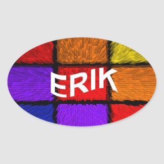 ERIK OVAL STICKER