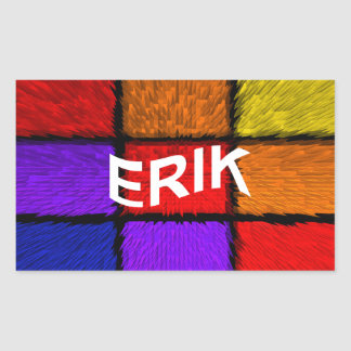 ERIK RECTANGULAR STICKER