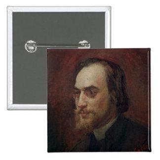 Erik Satie 2 Inch Square Button