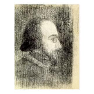 Erik Satie  c.1886 Postcard