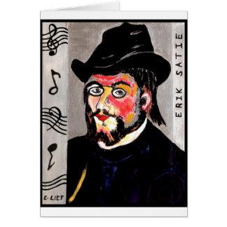 Erik Satie Greeting Card