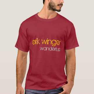 "Erik Winger ""Wanderlust"" t shirt - dark red"
