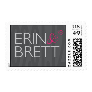 Erin and Brett Monogram Postage Stamp