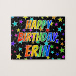 "[ Thumbnail: ""Erin"" First Name, Fun ""Happy Birthday"" Jigsaw Puzzle ]"