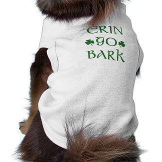 Erin Go Bark Irish St Patrick s day dog shirt