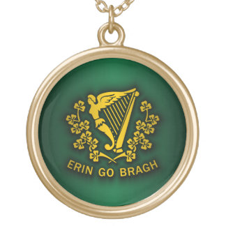 Erin Go Bragh 2 Gold Plated Necklace