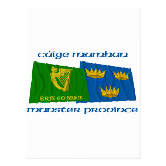 Erin Go Bragh amd Munster Province Flags Postcard