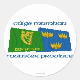 Erin Go Bragh amd Munster Province Flags Sticker