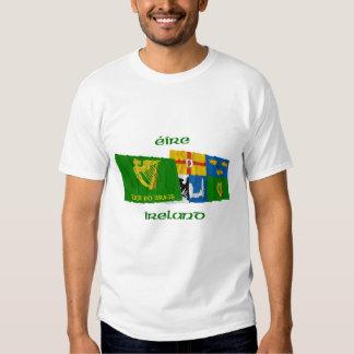 Erin Go Bragh and Four-Province Waving Flags Tee Shirt