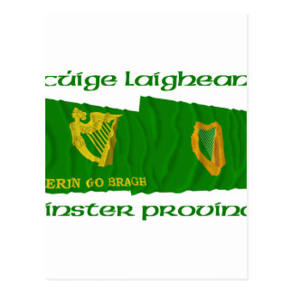 Erin Go Bragh and Leinster Province Flags Postcard
