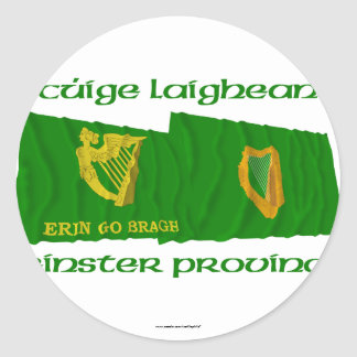 Erin Go Bragh and Leinster Province Flags Classic Round Sticker