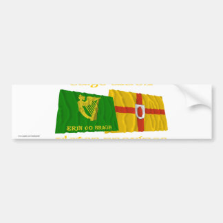 Erin Go Bragh and Ulster Province Flags Car Bumper Sticker