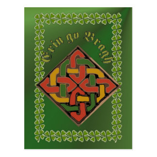 Erin go Bragh Celtic Cross FetteFraD 2100X1500 sm Postcard