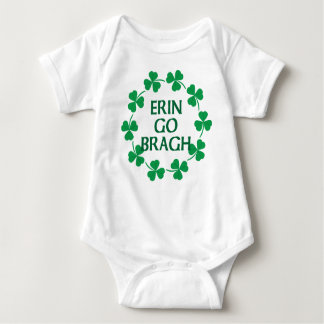 Erin Go Bragh Circle of Shamrocks Baby Bodysuit