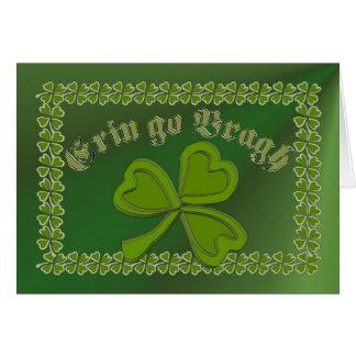 Erin go Bragh FetteFraD 2100X1500 sm SHAMROCK FRAM Card