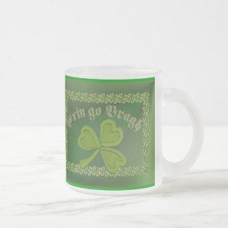 Erin go Bragh FetteFraD 2100X1500 sm SHAMROCK FRAM 10 Oz Frosted Glass Coffee Mug