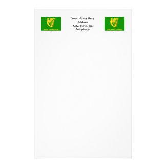 Erin Go Bragh Flag Stationery