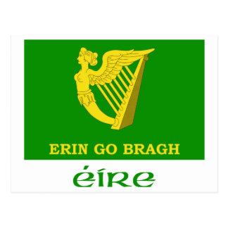 Erin Go Bragh Flag with Name Postcard