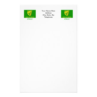 Erin Go Bragh Flag with Name Stationery