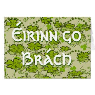 Erin Go Bragh Gaelic phrase Ireland Forever Card