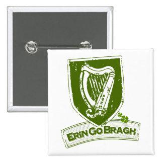 Erin go Bragh (Harp Grn) Button