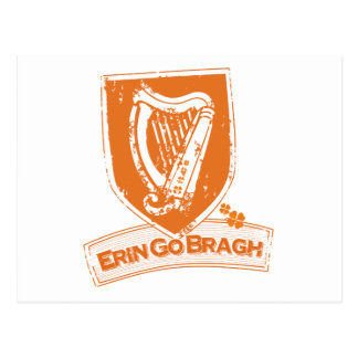 Erin Go Bragh (Harp Orange) Postcard