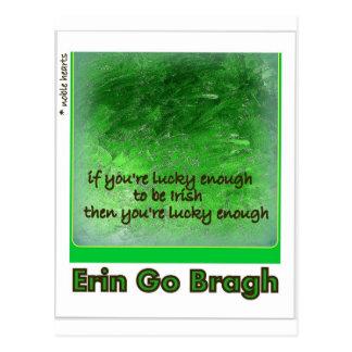 """Erin Go Bragh."" (Ireland Forever) Postcard"