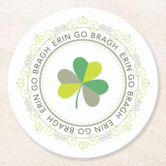 Erin go Bragh, Ireland Forever Round Paper Coaster