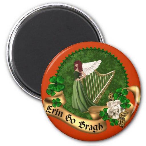 Erin Go Bragh Irish 2 Inch Round Magnet