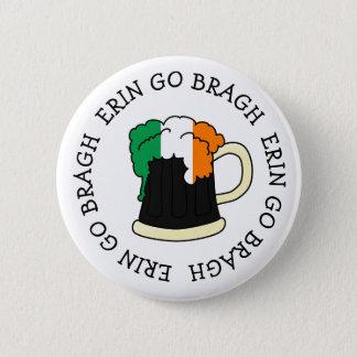 Erin Go Bragh Irish Flag beer St Patrick button