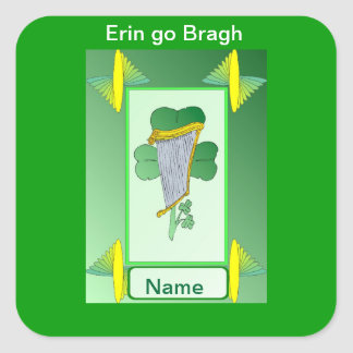 Erin go Bragh, Irish item Square Sticker