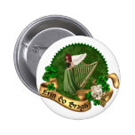 Erin Go Bragh Irish Pinback Button