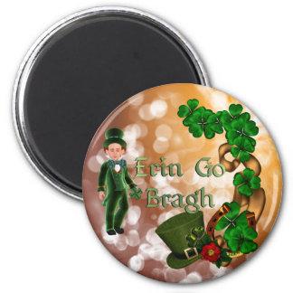 Erin Go Bragh Leprechaun Refrigerator Magnets
