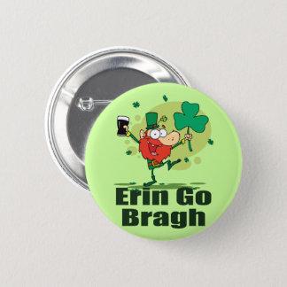 Erin Go Bragh Leprechaun with Stout Pinback Button