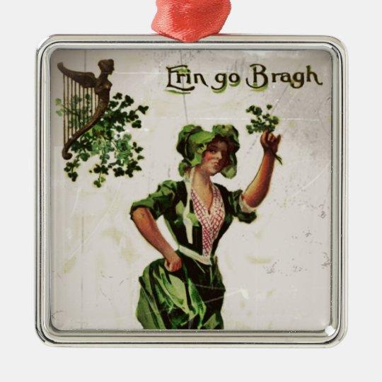 Erin Go Bragh Metal Ornament