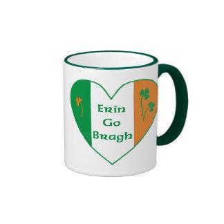 Erin Go Bragh Ringer Coffee Mug