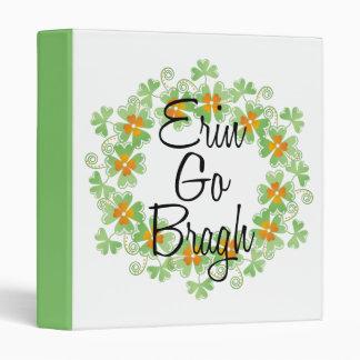 Erin Go Bragh Shamrock Binder