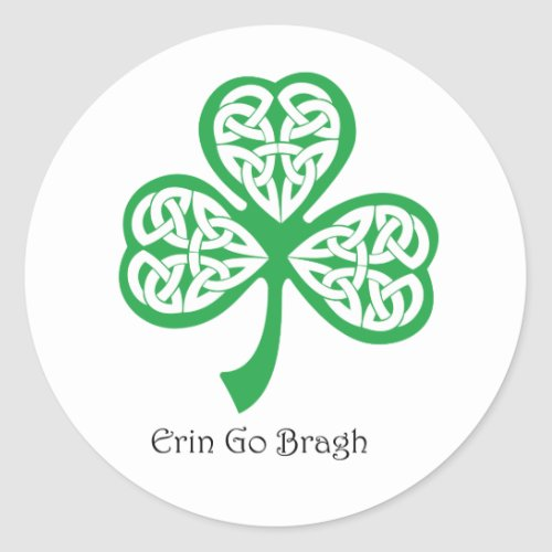 Erin Go Bragh shamrock with celtic knotwork
