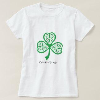Erin Go Bragh shamrock with celtic knotwork Shirt