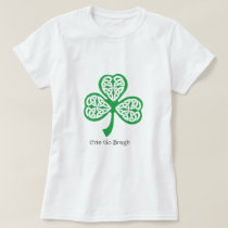 Erin Go Bragh shamrock with celtic knotwork T-Shirt