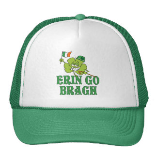 Erin Go Bragh Smiling Shamrock Trucker Hat