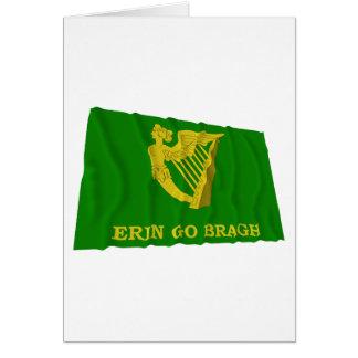 Erin Go Bragh Waving Flag Card