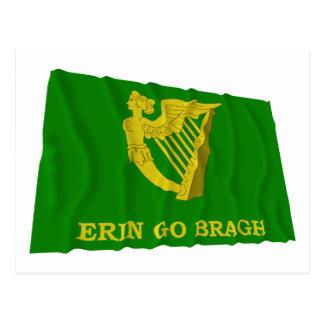 Erin Go Bragh Waving Flag Postcard