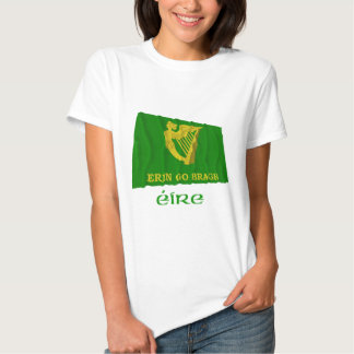 Erin Go Bragh Waving Flag with Name T Shirt