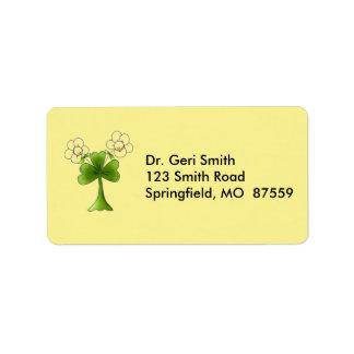 Erin Go Brahg Flowers Address Label
