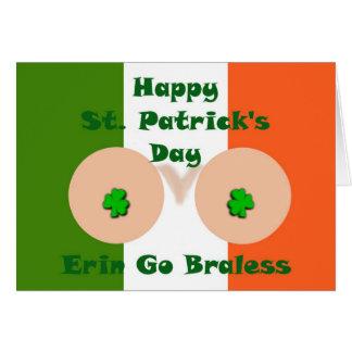 Erin go braless Happy St. Patrick's Day Card