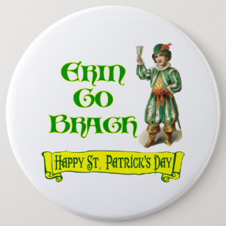 Erin Go Braugh Happy St. Patrick's Day Saying Button