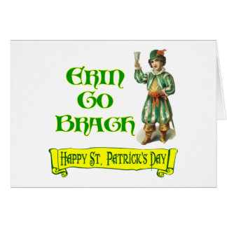 Erin Go Braugh Happy St. Patrick's Day Saying Greeting Card