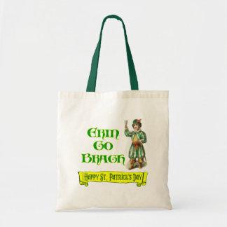 Erin Go Braugh Happy St. Patrick's Day Saying Tote Bag