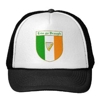 Erin Go Braugh Harp Irish Flag Shield Mesh Hat